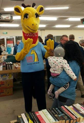 Harold at Rotary bookfair 7 Oct 17