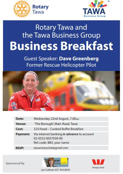 Dave Greenberg Business Breakfast Aug 18