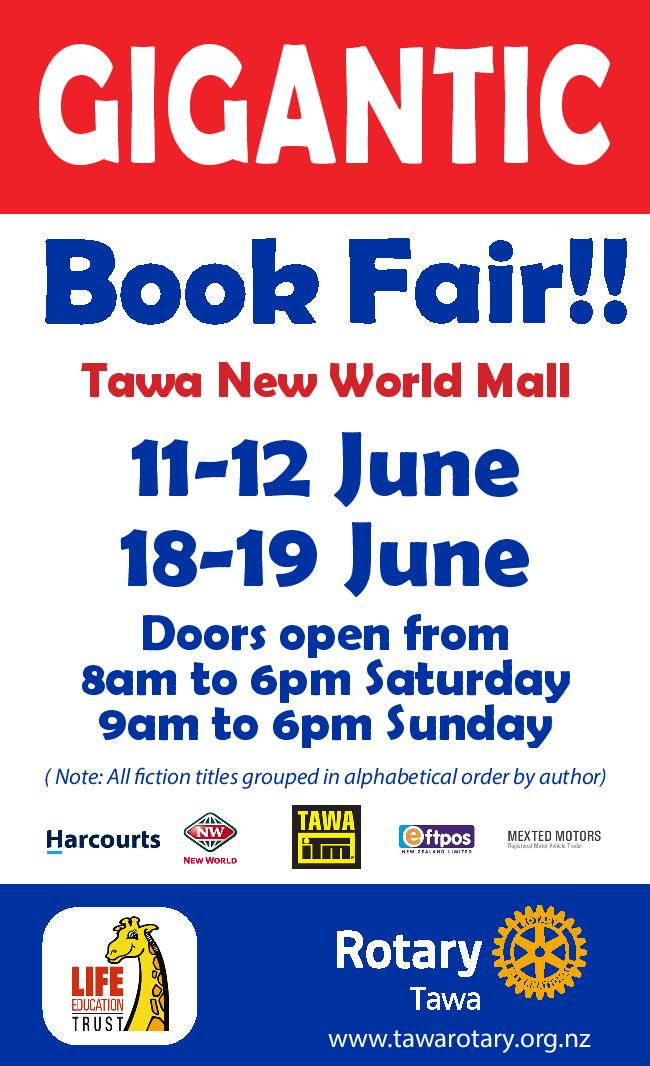 Tawa Rotary Book Fair poster 2016