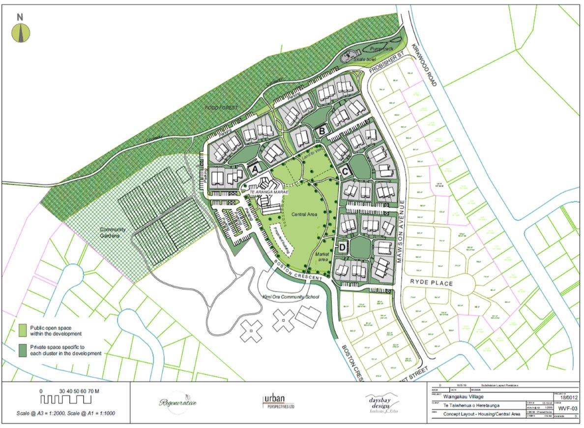 Waingakau Village Urban Concept Plans