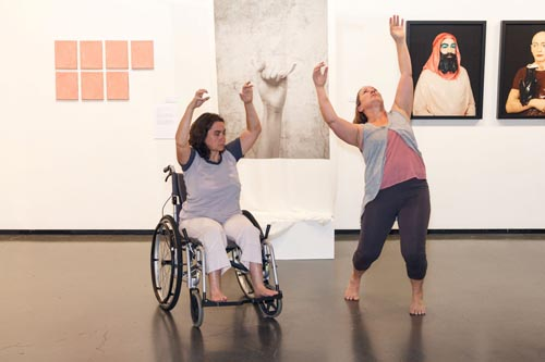 Jane Gordon and Sumara Fraser dancing in The Art of Observation